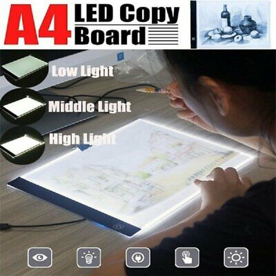 Digital Tablet A4 LED Art Drawing Board Light Protect Eyes Tracing Table Pad NEW