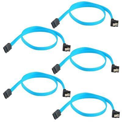 "5x 18"" SATA 3.0 Cable SATA3 III 6GB/s Right Angle 90 Degree for HDD Hard Drive"
