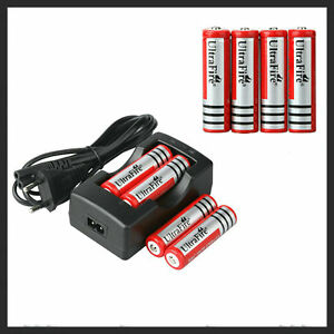 8x Neu UltraFire 18650 4200mAh 3.7V LED Taschenlampe Akku Batterie & Ladegerät