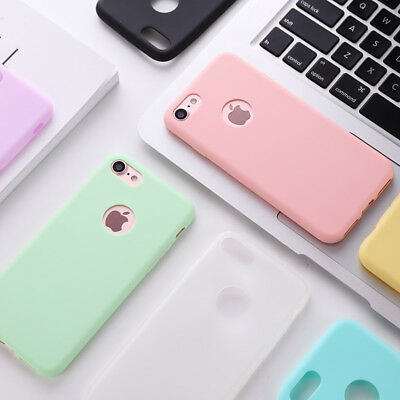 Colorful Candy (Candy Color Silicone Case for iPhone 6 7 8 Plus 5s SE X Original 360 Body)
