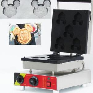Mickey Mouse Shape Waffle Maker Cartoon Cake Machine 110V (028036)