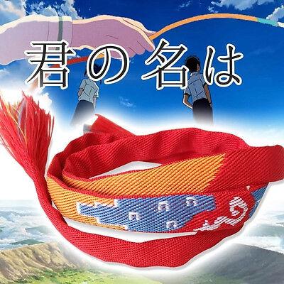 Us Ship Movie Your Name Kimi No Na Wa Miyamizu Mitsuha  Rope Lovers Bracelet