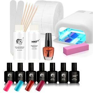 kit manucure vernis semi permanent complet lampe uv pour faux ongles ebay. Black Bedroom Furniture Sets. Home Design Ideas