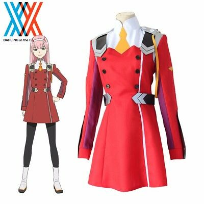 Japan Anime DARLING in the FRANXX National Team Uniforms Cosplay Costume Dress