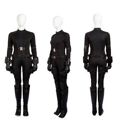 Original Captain America Black Widow Costume Natasha Romanoff Hallowmas Costume - Original Captain America Costume