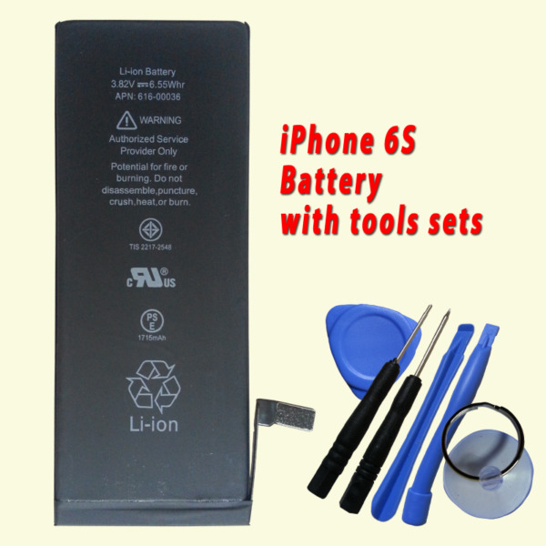 New Battery for Apple iPhone 6S 616-00036 1715mAh with free tools sets