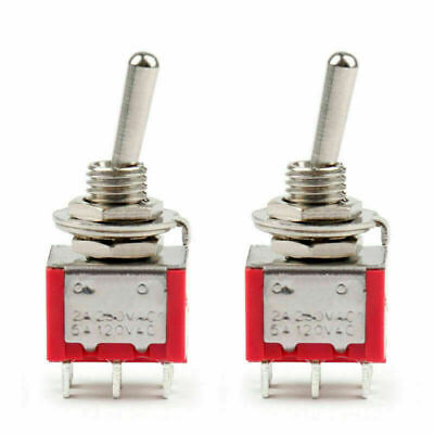 2pcs Mini 6mm Mts-202 Toggle Switch 6 Pin 2 Position Onon 5a125vac Us