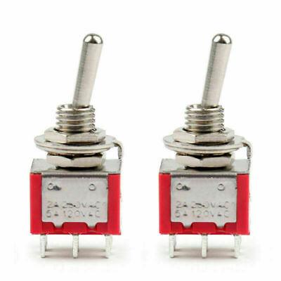 2pcs Mini 6mm Mts-202 Toggle Switch 6 Pin 2 Position Onon 5a125vac Us