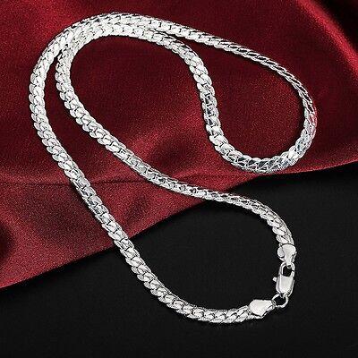 PANZERKETTE Silberkette Kette Edelstahl silber Halskette massiv Herren 50 cm NEU