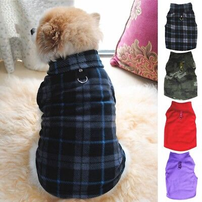 Small Pets Dog Winter Warm Coat Sweater Puppy Apparel Fleece Vest Jacket XS-3XL