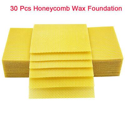 30 Pack Honeycomb Bee Wax Foundation Honey Hive Equipment Bee Honey Sheets Usa