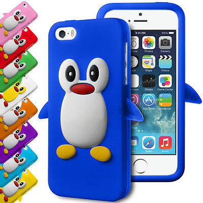 3D DESIGN PENGUIN FLEXIBLE SILICONE RUBBER GEL SKIN CASE COVER FOR APPLE IPHONES ()