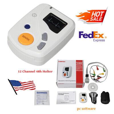 Contec Tlc6000 Dynamic 48hour 12channel Holter Ecg Ekg Monitor Software Alalyzer
