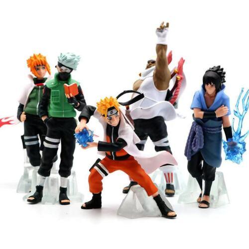 1 Set 5 Pcs Anime Naruto Kakashi Sasuke Uzumaki Naruto PVC Figures Gift