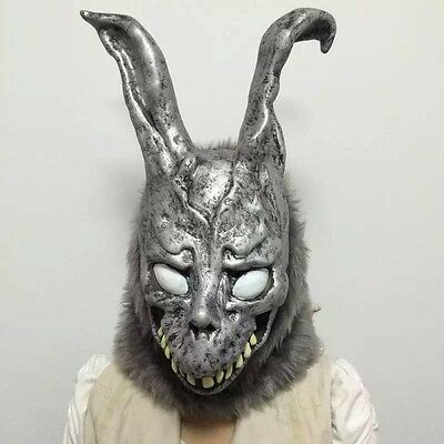 Donnie Darko FRANK the Bunny Rabbit MASK Latex Overhead with Fur Adult Costume - Donnie Darko Bunny