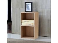 2 x 2 level Tier Wooden Bookcase Shelving Display Shelves Storage Unit Wood Shelf