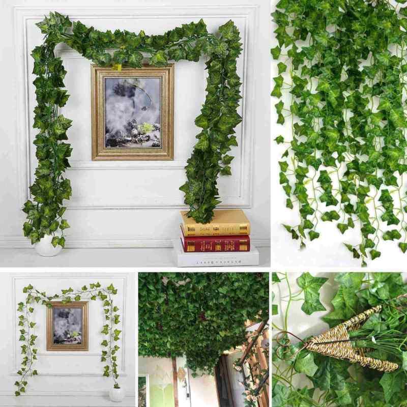 12x2m Efeugirlande Efeubusch Grünpflanze Künstliche Kunstpflanze Deko Hochzeit