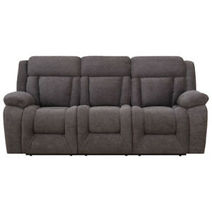 Geneva Contemporary Corduroy Reclining Sofa - Charcoal New boxed