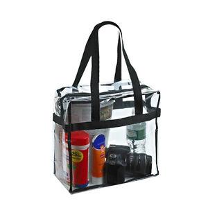 PVC Tote Bags Crystal Transparent Waterproof Shoulder Beach Makeup Handbag UK