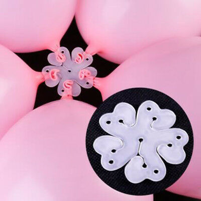 10 PCS Latex Balloon Sheet Flower Shape Clip Birthday Party Wedding - Flower Balloons