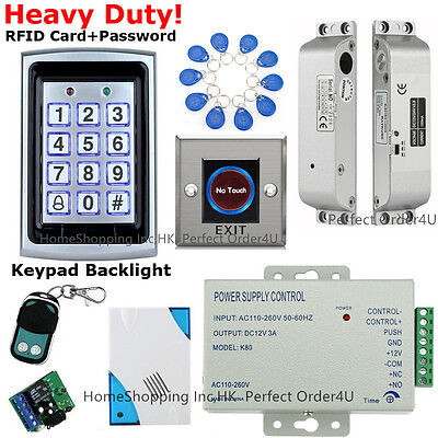 USA 125KHz RFID Card+Password Door Access Control System+Drop Bolt Lock+IR Exit