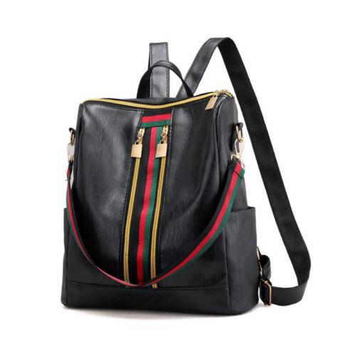 Neu Damen Rucksack Damentasche Handtasche Schultertasche PU Leder Schwarz