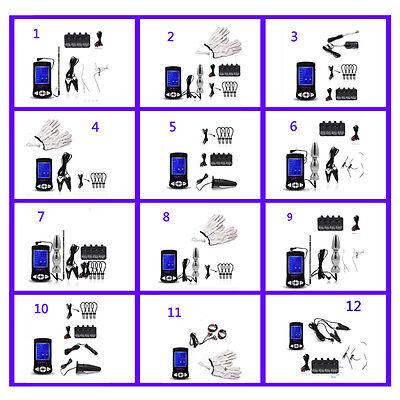 Electric Climax E-Stim Pulse Machine Shocking Urethra Penis Plug kit,USB Charge