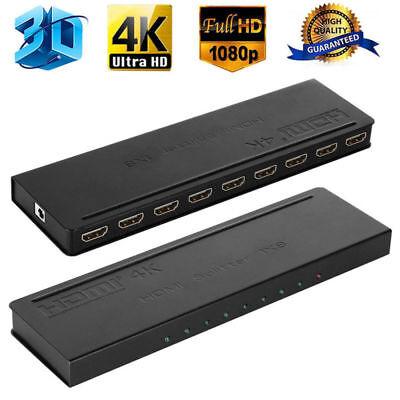 Ultra HD 4K HDMI Splitter 1x2 1x4 1x8 2x8 Amplifier Repeater Hub 3D 1080P 2160P