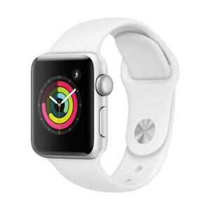 Apple Watch Series 3 (GPS) ( 38mm ) Silver Aluminium Case White Sport MTEY2CL/A - VALENTINES SPECIAL AT BESTCOST.CA !