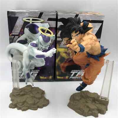Dragon Ball Z Goku Vs Freeza Pvc Figure Anime 2Pcs  Action Toy Model Gift Kids