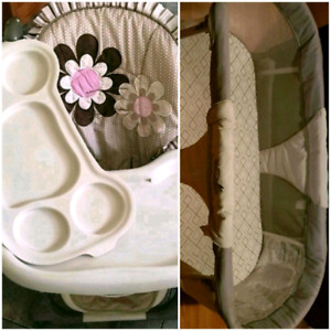 High chair n folding baby bed for sale