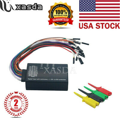 Mini Saleae 16 Logic Analyzer Usb 100m Max Sample Rate 16ch Version 1.1.34 Us Xa
