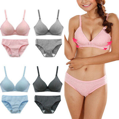 Women Sexy Bra Set Top Quality Underwear Push-Up Padded Cotton Bra and Panty