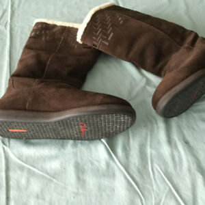 ladies or young woman fashionable winter boots