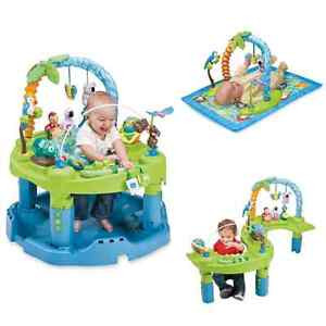 Baby exersaucer, play mat and yard