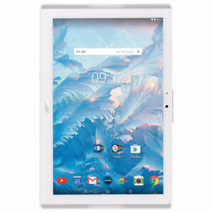 "Acer Iconia One 10.1"" 16GB Android 7.0 Tablet Quad Core - White"