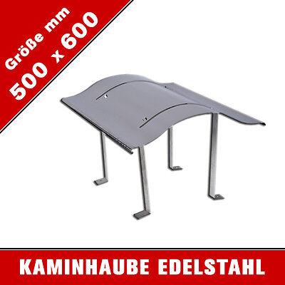 Schornsteinabdeckung 500 x 600 mm Kaminabdeckung Kaminhaube Regenhaub Edelstahl