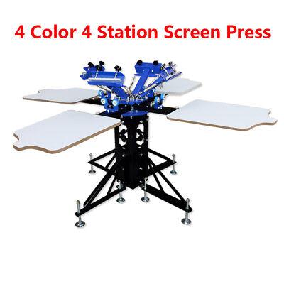 New Model Screen Printing Press 4 Color Double Rotary Printer Diy Machine