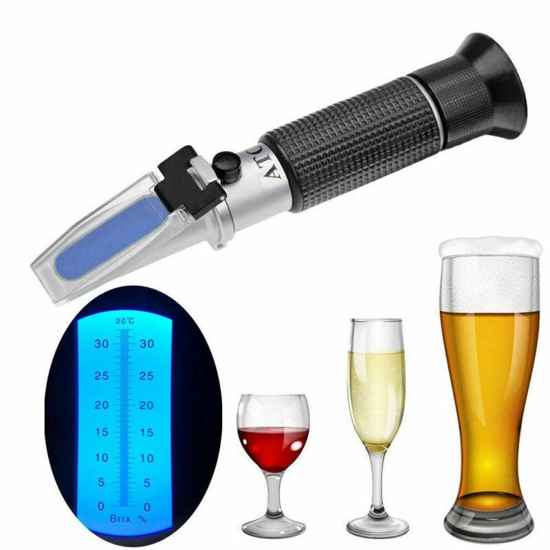 Refraktometer Wein Winzer Bier Alkohol Zucker Gehalt Brix: 0-32%