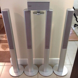 4 Panasonic Surround Sound Speakers With Center Speaker