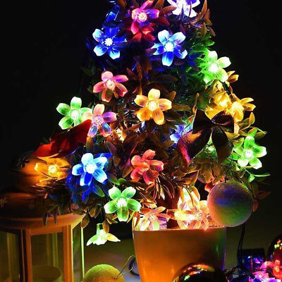 US 50 LED Blossom Flower Solar Fairy String Lights Outdoor Garden Wedding Party](Flower Led)