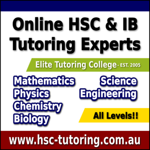 High School, HSC & IB Maths Physics Chemistry Biology Tutoring