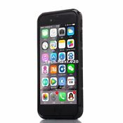 iPhone 6S Case Black Heavy Duty Hybrid Shockproof Hard Rubber iPhone 6 Cove