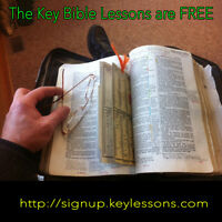 30 Free Key Bible Lessons. Weekly course by Email