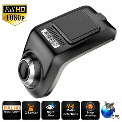 FHD 1080P Hidden Car DVR Camera Video Recorder Dash Cam GPS ADAS G-sensor USB