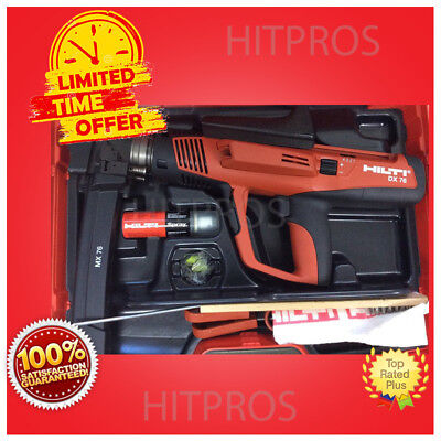 Hilti Dx 76 Powder Actuated Tool New Free Nails Grinder Extras Fast Ship