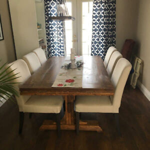 Handcrafted Custom Harvest Tables from New or Reclaimed Lumber