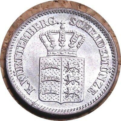 elf Germany Wuerttemberg Kingdom 1 Kreuzer 1871 Silver