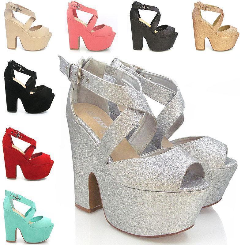 Silver High Heel Sandals Ebay