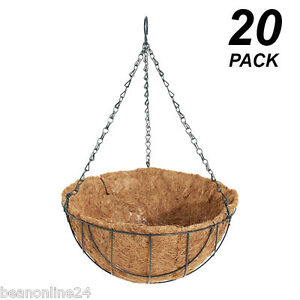20-Pack-x-30cm-Hanging-Baskets-Garden-Planters-with-Liner-Hang-Chain